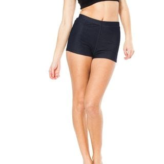 Soho Junior Navy Stretchy High Waisted Shorts