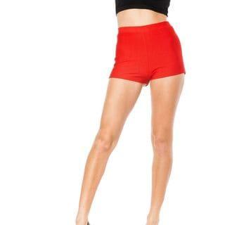Soho Junior Red Stretchy High Waisted Shorts