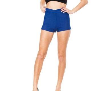 Soho Junior Blue Stretchy High Waisted Shorts