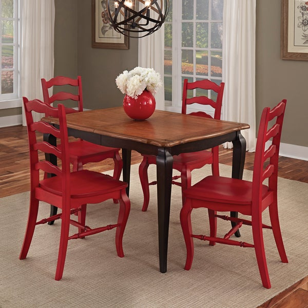 5 Piece Pub Dining Set Black D: Shop The Gray Barn Hester Gulch Black And Oak 5-piece