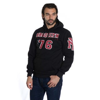 Men's Pull Over Fleece 'Brooklyn' Embroidery Double Hood Sweatshirt