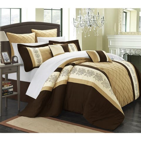 Chic Home Arlington Gold 8-piece Comforter Set