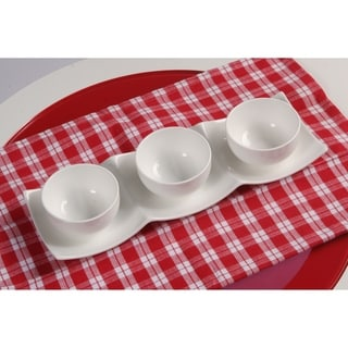 Vanilla Fare 3-section Plate and Bowl Set