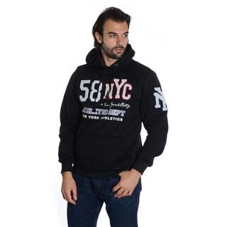 Men's Pull Over Fleece 'NYC' Embroidered Double Hood Sweatshirt