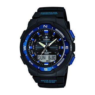 Casio Men's SGW500H-2BV Resin Analog Digital Twin Sensor Multi-Function Watch
