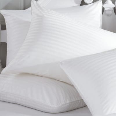 Cheer Collection 300 Thread Count Striped Soft Down Alternative Pillow (Set of 2) - White