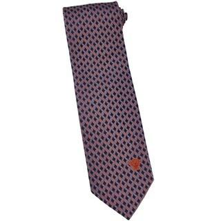 Versace 100-percent Italian Silk Burnt Orange Loop Neck Tie