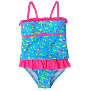 Jump'N Splash Girl's Blue Confetti Skirt Tankini Swimsuit