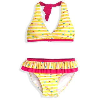 Jump'N Splash Girl's Yellow Tutu Two-Piece Swimsuit