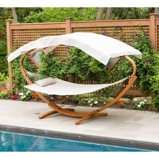 Hammock Stand With Hammock & Canopy