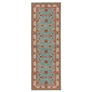 Ottomanson Prestige Collection Teal Blue Traditional Persian All-over Pattern Design Runner Rug (2'3 x 6')