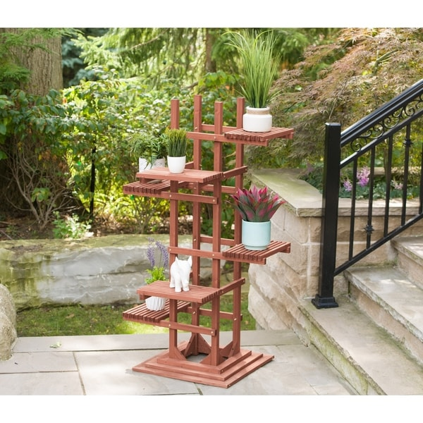 6-Tier Wooden Pedestal Plant Stand. Opens flyout.