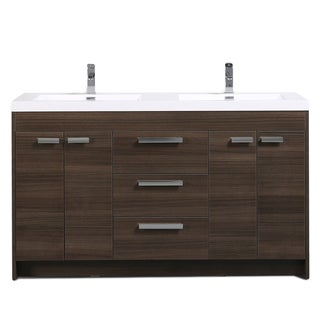 Link to Eviva Lugano 60 inch Gray Oak Modern Double Sink Bathroom Vanity with White Integrated Acrylic Top Similar Items in Vacuums & Floor Care
