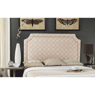 Safavieh Shayne Pale Pink/ Beige Moroccan Pattern Headboard - Silver Nailhead (Full)