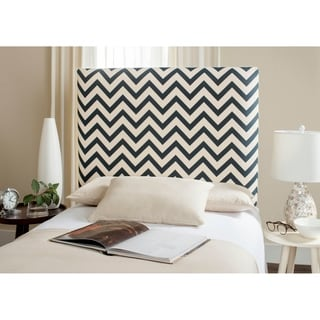 Safavieh Ziggy Navy/ Off-white Upholstered Chevron Headboard (Twin)