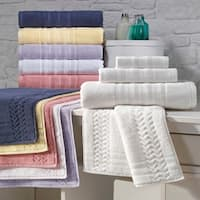Enchante Allure 6-piece Turkish Towel Set with Bath Rug