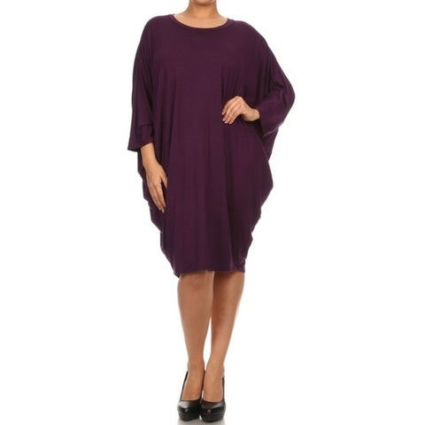MOA Collection Women's Plus Size Draped Dress