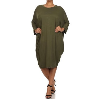 MOA Collection Women's Plus Size Draped Dress (More options available)