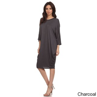 MOA Collection Women's Solid Draped Midi Dress (More options available)