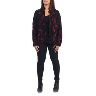 Women's Plus Size Patterned Jacket