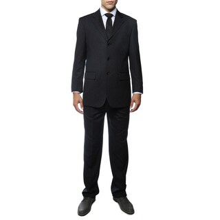 Ferrecci Men's Duke Navy Pinstripe Regular Fir 2-piece Suit