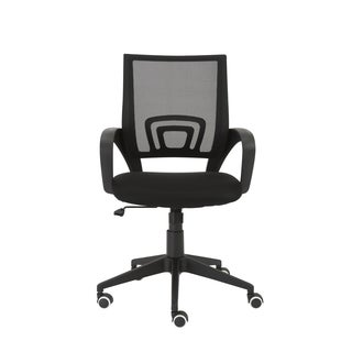 Machiko Black/ Black Nylon Office Chair