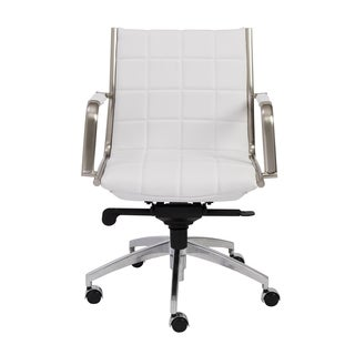 Zander White/ Chrome Low Back Office Chair