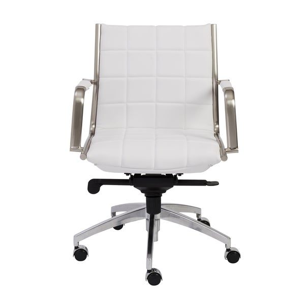 Zander White Chrome Low Back Office Chair