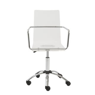 Chloe Clear/ Chrome Office Chair