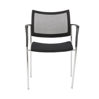 Vahn Black/ Chrome Visitor Chair