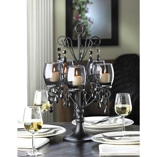 Romantic Elegant Glowing Candelabra