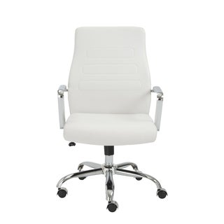 Fenella White/ Chrome Office Chair