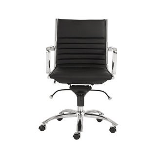 Dirk Black/ Chrome Low Back Office Chair