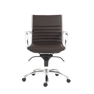 Dirk Brown/ Chrome Low Back Office Chair
