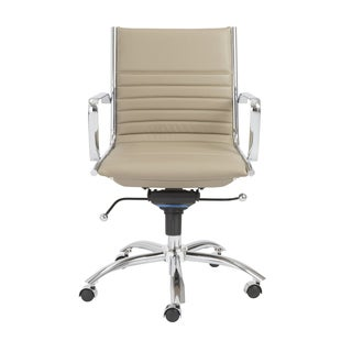 Dirk Taupe/ Chrome Low Back Office Chair