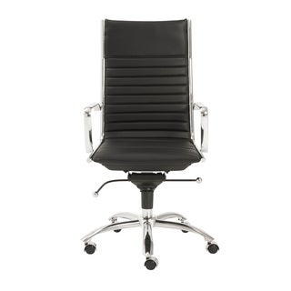 Dirk Black/ Chrome High Back Office Chair