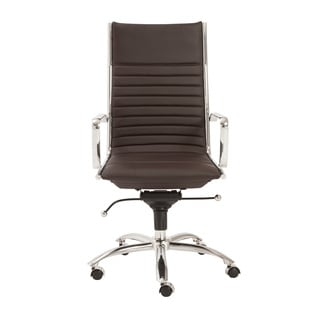 Dirk Brown/ Chrome High Back Office Chair