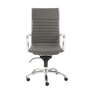 Dirk Grey/ Chrome High Back Office Chair