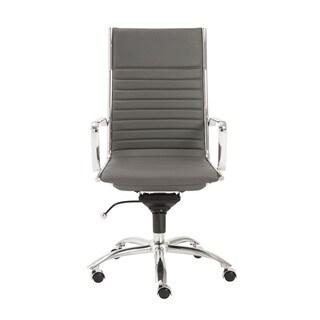 Dirk Grey/ Chrome High Back Office Chair