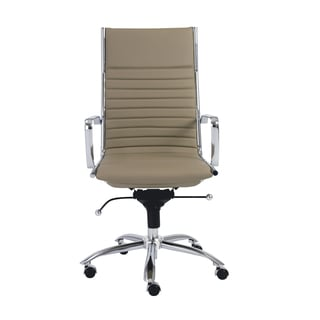 Dirk Taupe/ Chrome High Back Office Chair