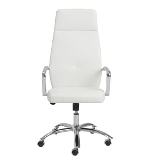 Napoleon White/ Chrome High Back Office Chair