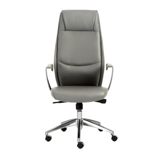 Crosby Grey/ Aluminum High Back Office Chair