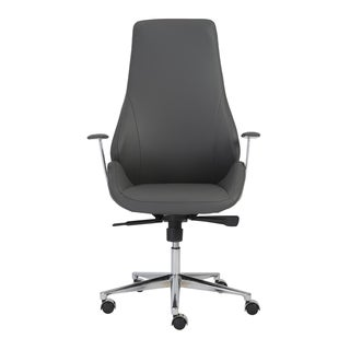 Bergen Grey/ Aluminum High Back Office Chair