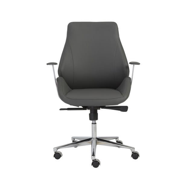 Bergen Grey Aluminum Low Back Office Chair Free Shipping Today Overstock