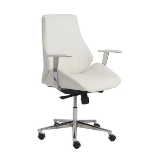 Bergen White/ Aluminum Low Back Office Chair