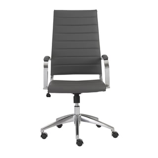 Axel Grey/ Aluminum High Back Office Chair