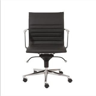 Kyler Black Leatherette/ Chrome Low Back Office Chair