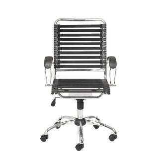 Bungie Black/ Chrome Flat J Arm Office Chair