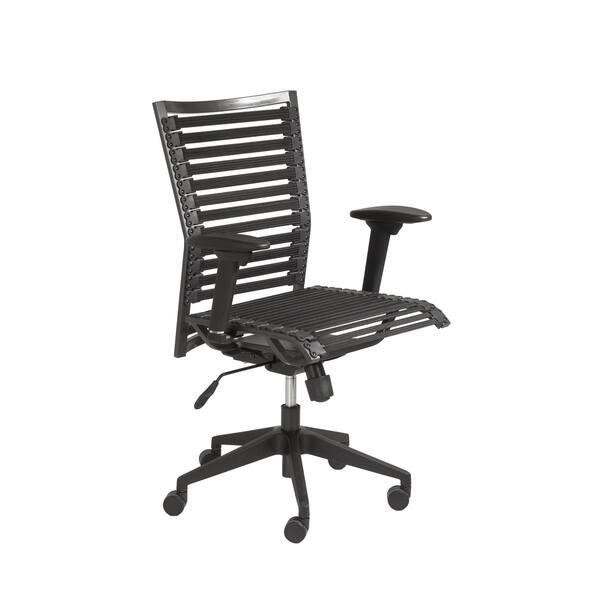 Black Flat High Back Office Chair
