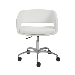 Amelia White/ Chrome Office Chair
